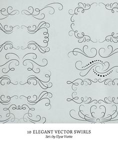 Vector vector swirl ornament and frame set stock illustration elegant swirl vectors set 1 by elyseviotto on etsy 795 stopboris Images