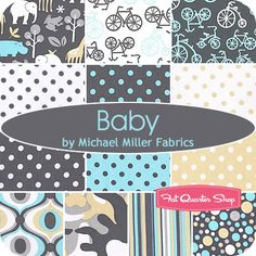 Love this Michael Miller fabric line for boys nursery