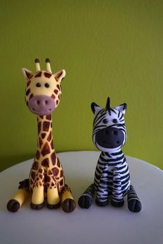 Safari Cake Toppers Fondant Safari Animal Cake Giraffe