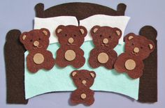 Bear Felt Board or Flannel Board Story Set, Librarian Story Time & Circle Time, Teacher Resource Preschool Teacher Appreciation Gift Flannel Board Stories, Felt Board Stories, Felt Stories, Flannel Boards, Felt Crafts, Diy And Crafts, Crafts For Kids, Daycare Crafts, Preschool Themes