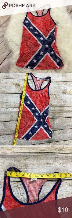 Shop Women's Exist Red Blue size SJ Tank Tops at a discounted price at Poshmark. Redneck Girl Outfits, Confederate Flag, Fashion Design, Fashion Tips, Fashion Trends, Red And Blue, Tank Tops, Style, Fashion Hacks