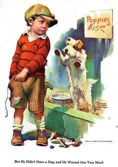 He really wanted a puppy ~Frances Tipton Hunter