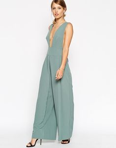 ASOS Jumpsuit with Deep Plunge with Obi Belt