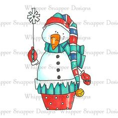 BLUSTER THE SNOWMAN Christmas Crafts To Make, Homemade Christmas Decorations, Diy Crafts For Gifts, Christmas Projects, Christmas Clipart, Christmas Cards, Xmas, Snowman Images, Christmas Topper