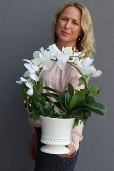 E Flowers, Exotic Flowers, Flower Boxes, Orchid Flower Arrangements, Garden S, Vases Decor, Artificial Flowers, Diy And Crafts, Amalfi