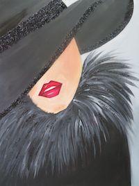 Woman with a hat Black Girl Art, Art Girl, Pictures To Paint, Art Pictures, Art Deco Paintings, Pintura Country, Paint Party, Acrylic Art, Face Art