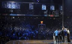 Raising of the banners at 2012 Big Blue Madness