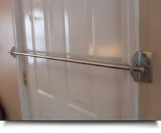SEE-SAFE Security Door Bar System. SEE-SAFE Security Door Bar is a door frame mounting product that has been patented and tested to withstand several pounds of resistance. SEE-SAFE Security Door Bar System is constructed of 2 - long x thi Safe Home Security, Wireless Home Security Systems, Security Cameras For Home, Security Alarm, House Security, Security Doors, Security Tips, Door Security Devices, Window Security Bars