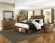 River Ridge Island Storage Bedroom Set