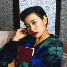 Joan Chen as Josie Packard in promotional photos for the second season of Twin Peaks.
