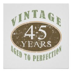 Vintage 45th Birthday Posters