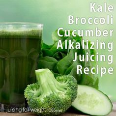 This kale broccoli cucumber juicing recipe is a fantastic alkalizing recipe full of dense nutrition. The cucumber helps to cut some of the strong taste of the kale and broccoli. If you need to take a bit of the edge off of this recipe you can try some lemon. Lemon is also alkalizing to stay with the theme of this recipe.