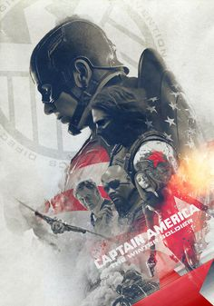 Captain America: The Winter Soldier Tribute Poster - Laura Racero