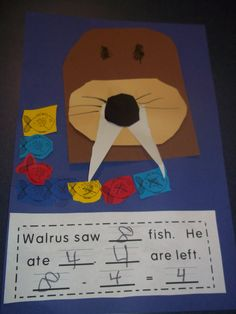 walrus  subtraction - Trying to get your words in there.... the walrus ate 14 winter worms.... @Jenn L Simper