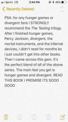 The Testing by Joelle Charbonneau  It is an amazing series. I totally recommend it.