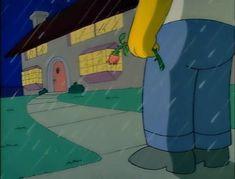 give a rose Mood Wallpaper, Retro Wallpaper, Wallpaper Iphone Cute, Simpson Wave, Bart Simpson, Simpsons Quotes, The Simpsons, Sad Art, Cartoon Art