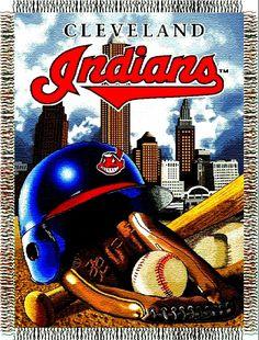 Cleveland Indians MLB Woven Tapestry Throw Home Field Advantage Cleveland Indians Baseball, Cleveland Ohio, Cleveland Browns, Indian Tapestry, Baseball Equipment, Baseball Stuff, American League, Tapestry Weaving, Kentucky Basketball