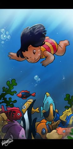 Lilo and Stitch: Disney: Underwater Lilo by chocolatecherry.deviantart.com on @deviantART