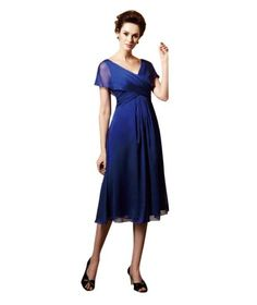 Whatabeautifullife Women's Chiffon V-Neck Short Sleeve Tea-Length Mother of the Bride Dress Size 14W Color Royal Blue Whatabeautifullife,http://www.amazon.com/dp/B00CECMAVO/ref=cm_sw_r_pi_dp_gB6psb0HW194VMGZ