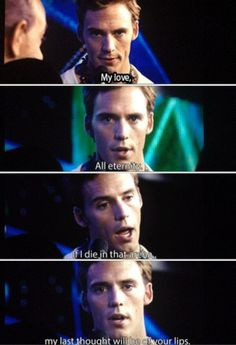 Finnick's seemingly empty speech. For those of us who have read the book, we know who this was truly intended for.