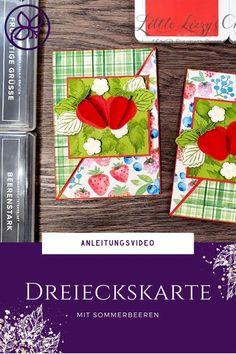 Anleitung mit Anleitungsvideo zu diesem coolen Kartenformat Paper Trimmer, 3d Paper, Blog, Cover, Up, Crafts, Pranks, Book Folding, Triangles