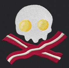 Bacon & Eggs | Urban Threads: Unique and Awesome Embroidery Designs