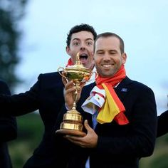 Rory McIlroy was in inspirational form on the golf course and he was as cheerful off it during Europe's celebrations.