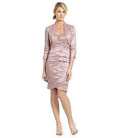 Jessica Howard Beaded Bolero Jacket Dress #Dillards
