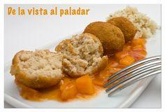 Albondiguillas fritas de pez espada al jengibre con salsa agridulce - De la Vista al Paladar