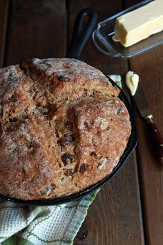 Irish Soda Bread w/Spelt Flour | This Irish Soda Bread is made with whole grain spelt flour and sweetened with coconut sugar and raisins. Perfect anytime and especially for St. Patrick's Day. | leelalicious.com