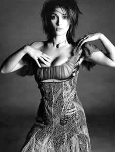 Winona Ryder wears Alexander McQueen in 'Ryder on the Storm' by Michael Thompson for W Magazine, June 2002.