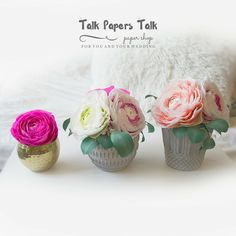 Glass cabochon brooch pins by Annie T by TalkPapersTalk Crepe Paper Flowers, Ranunculus, Flower Arrangements, Etsy Seller, Wedding Decorations, Place Card Holders, Creative, Pink, Ideas