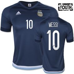 204fcd2d6 Lionel Messi Youth Away Soccer Jersey 2015 Argentina  10