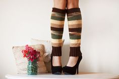Knit Leg Warmers Knit Boot Socks Adult by Nothingbutstring on Etsy, $35.00