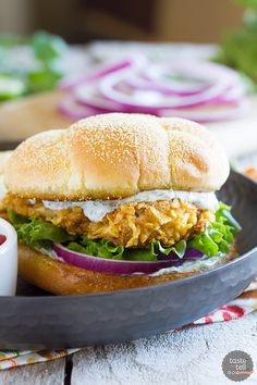 With the perfect amount of spice and a ton of flavor, this Spicy Chicken Sandwich with Cilantro-Lime Mayo is so good that the family will ask for it again!