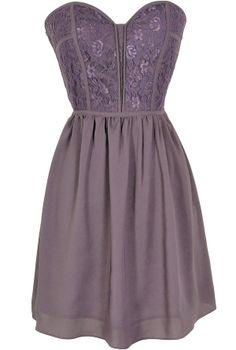 Sweetheart Strapless Dress in Royal Purple