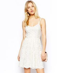 Image 1 ofASOS Lace Skater Dress
