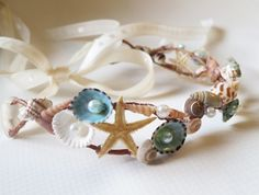 Mermaid Sea Shell Crown-Beach Wedding Crown- Hair Accessory-Sea Shell Flower Crown-Beach Wedding Hair Crown-Crown of Sea Shells on Etsy, $58.00