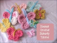 Chic and Cheap: Easiest Crochet Butterfly Tutorial Double Crochet, Easy Crochet, Free Crochet, Knit Crochet, Tutorial Crochet, Chrochet, Crochet Butterfly Free Pattern, Crochet Flower Patterns, Crochet Flowers