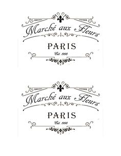 "French Flower Market Labels (4""x6"")"