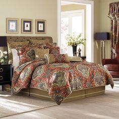 croscill orleans red 4piece comforter set