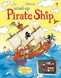 Wind-Up Pirate Ship. Also scroll down to check out Wind-Up Tractor Book, Wind up Train Book, Wind-up Plane, and Wind-Up Race Cars. Such fun creative reading activities. Books About Cars, Bateau Pirate, Pirate Adventure, Interactive Stories, Reading Levels, Pirate Party, Pirate Theme, Reading Activities, Activity Books