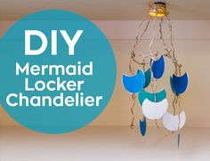 Swing into the school year with this whimsical mermaid-scale chandelier that even lights up! You will need: Low Temp Hot Glue Gun and Glue Scissors Magnets Flameless LED Tea Light Jute Cord Craft paper Florist Wire Embroidery hoop (optional) Shells, and other decorations  1. Simply make a 6-inch circle with florist wire and wrap it with jute cord. You can make your circle larger or smaller depending on how you would like your chandelier to look. You could also … Diy Chandelier, Mermaid School, Fun Crafts, Paper Crafts, Fin Fun, Mermaid Diy, Led Tea Lights, Life Hacks For School