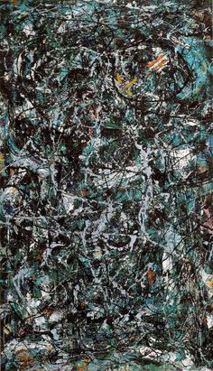 Jackson Pollock. Full Fathom Five, 1947. Oil on canvas with nails, tacks, buttons, coins, cigarettes, etc.