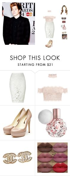 """""""going to the brit awards with luke"""" by unicorn-923 ❤ liked on Polyvore featuring Lipsy, Rupert Sanderson, Chanel, Kylie Cosmetics and Sonatina"""