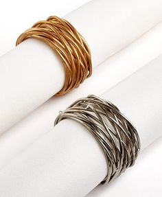 Excell Set of 4 Twisted Wire Napkin Rings - Silver 4th Of July Decorations, Table Decorations, Autumn Table, Christmas Mom, Christmas Crafts, Table Linens, Tablescapes, Napkin Rings, Napkins