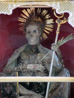 """Discover The Altar of the Basilica of St. Michael in Mondsee, Austria: This skeleton-filled altar piece served as a backdrop to one of the most iconic scenes in """"The Sound of Music. Wedding Scene, Catacombs, St Michael, Salzburg, Sound Of Music, Altar, Austria, Catholic, Backdrops"""