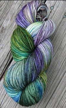 Bohemia Fibers: Superwash Merino DK Yarn 230 Yards Rain Washed Violets