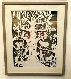 New family tree with Chinese zodiac papercuts - LOVELY! Commission from www.jessiemarlton.com