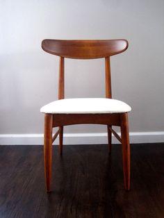mid century Scandia Danish Modern Teak chair